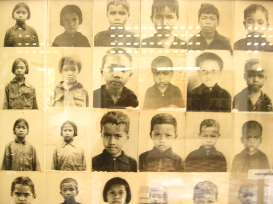 Documentation Photos of Murdered Children, Toul Sleng Genocide Museum, Phnom Penh, Cambodia