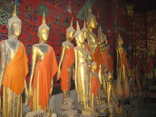 Buddhas in Wat Xieng Thong, Luang Prabang, Laos