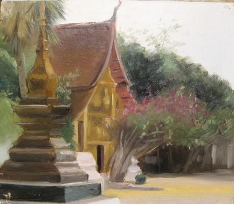 View in Wat Xieng Thong In Luang Prabang, Laos