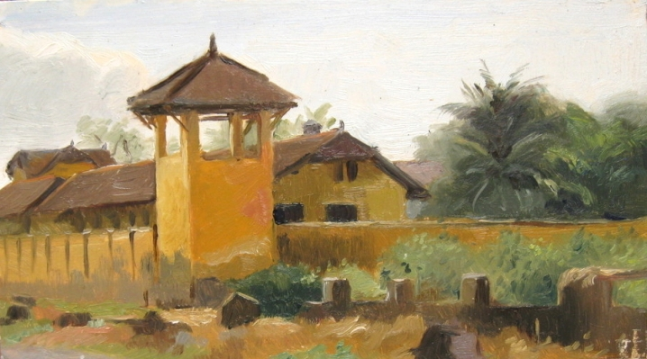 Old Prison in Kampot, Cambodia