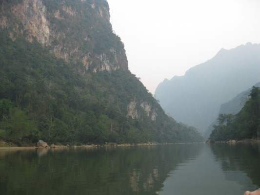 Gorges on the Nam Ou river, Laos