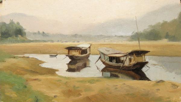 Boats On The Mekong