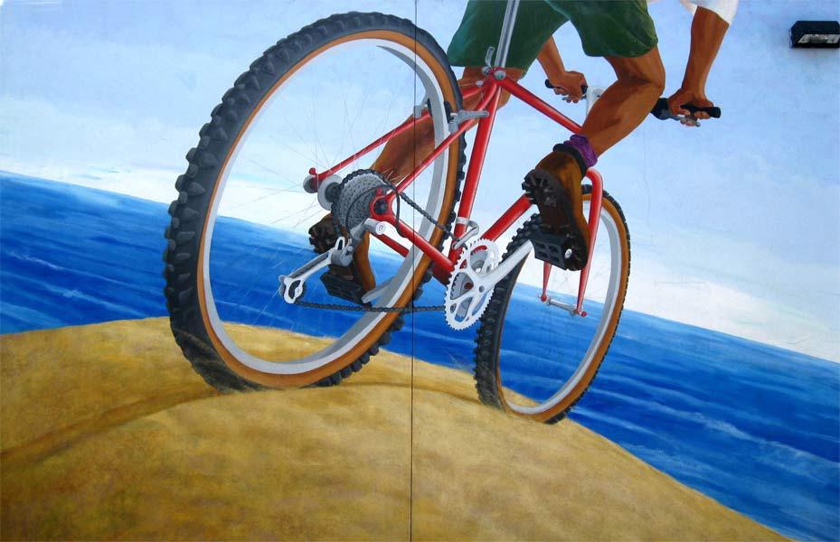 Dubocet Bike Mural (detail)