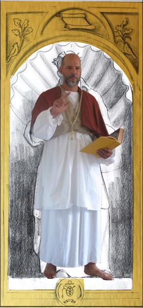 Me posing as St. Francis De Sales - through the magic of Photoshop