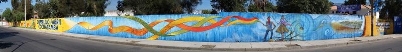 La Lucha Por El Agua Continúa - mural in Cochabamba, Bolivia