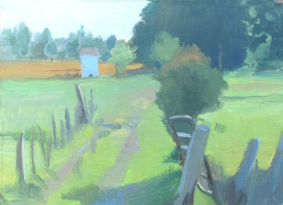 Pasture, Southern Illinois, 5x7 in., oil