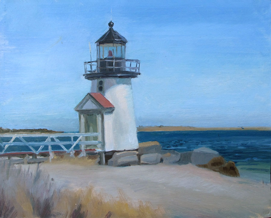 A Lighthouse on Nantucket Island, 8x10 in.,oil