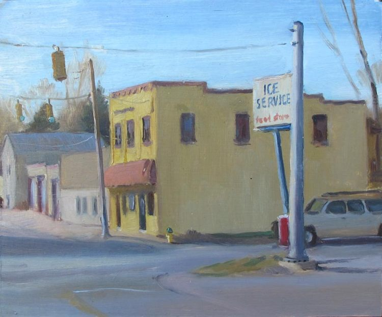 Ice Service, Asheville, 8x10 in.,oil