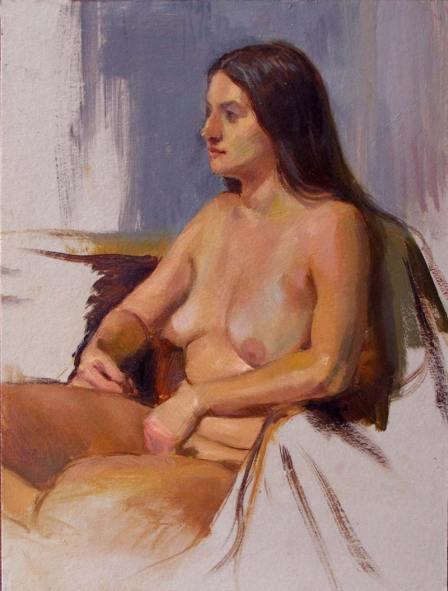 Study of Cassandra,Oil on Museum Board, 9 x 12 in.