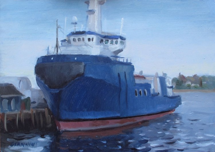 The Maine Responder,  7 x10 in., Oil on Museum Board