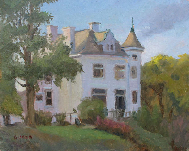 Trolley House, Mt. Lebanon, Pa., 8 x 10 in. Oil on Linen