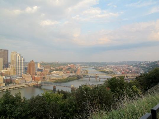 View of Pittsburgh, a very beautifully situated city.