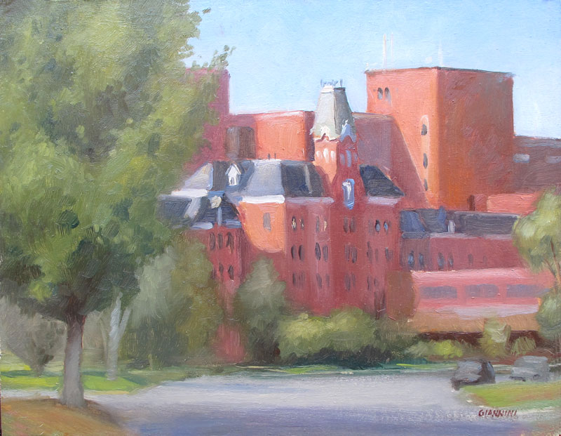 Maine MedicalCenter, Portland, 11 x 14 in., Oil on Linen
