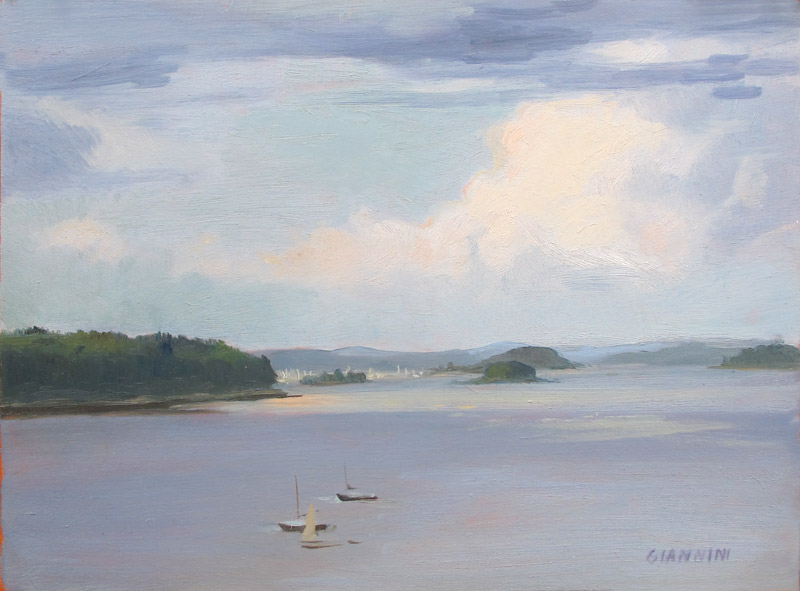 Casco Bay, 9 x 12 in. Oil on Board