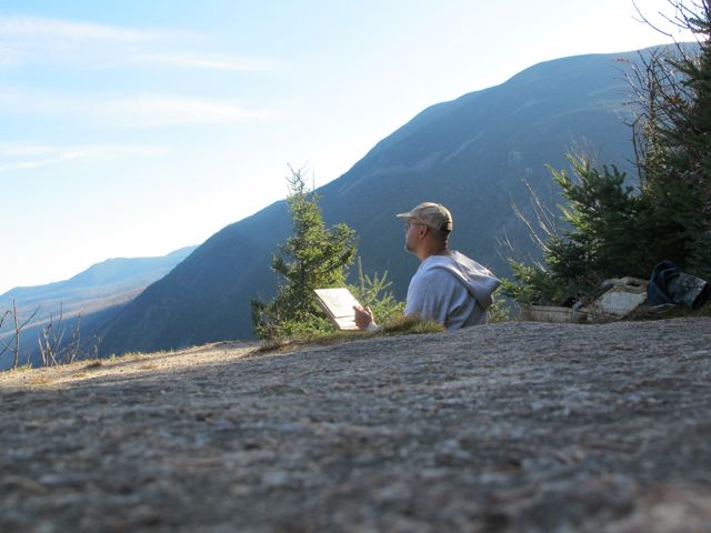 Me Painting on Mt. Willard