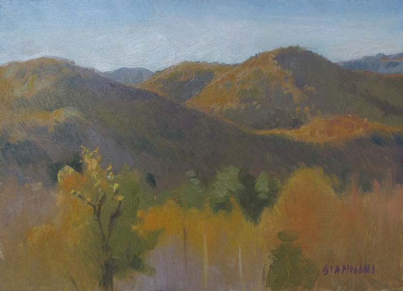 End of Day in the Whites, oil on ragboard, 6 x 9 in.