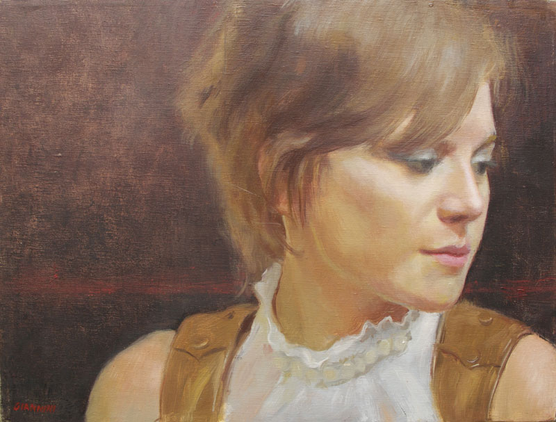 Courtney, 12x16in., oil on linen, S.Giannini