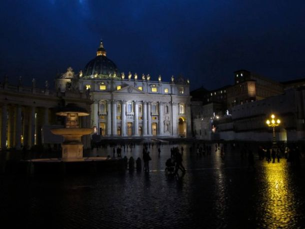 St. Peters Square by Night, Rome