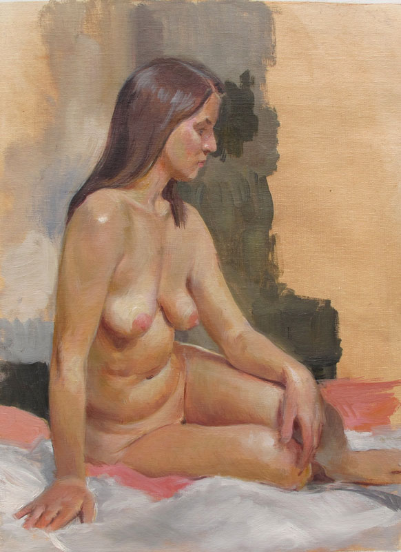Mellisa, oil on linen, 12x16 in., S. Giannini