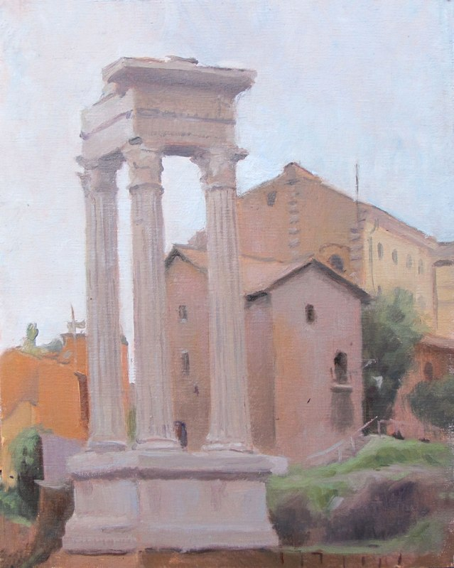 Near The Teatro-Marcello,Rome, 10 x 8 in. oil on linen