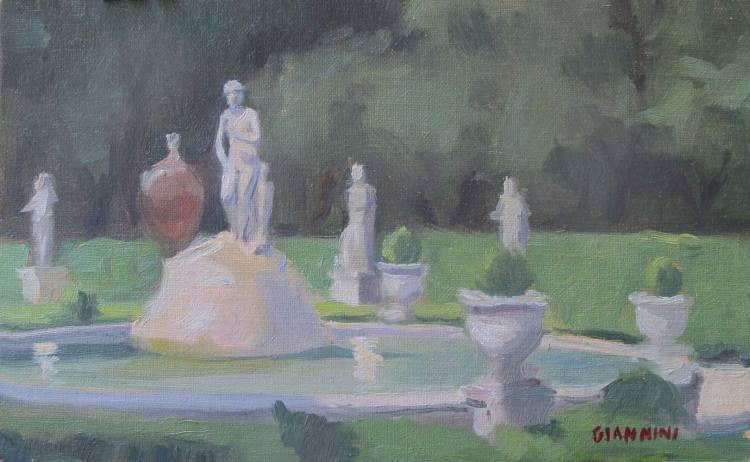 Fontana di Venere (Fountain of Venus), Galleria Borghese,Roma, 5X8 in., Oil