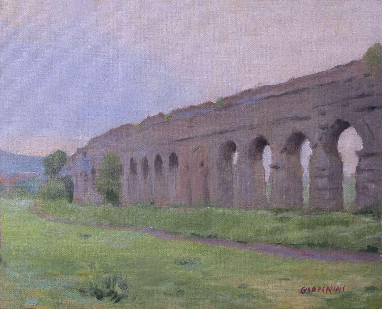 Parco Aqueducto,Roma, 8 x 10 in., Oil