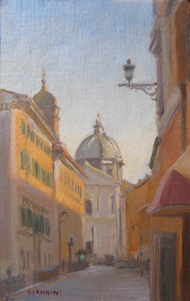 Sant'Andrea Della Valle, Roma, 8 x 5 in., Oil