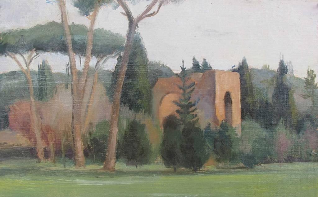 Terme Carcalla, Roma. 5 x 8 in.