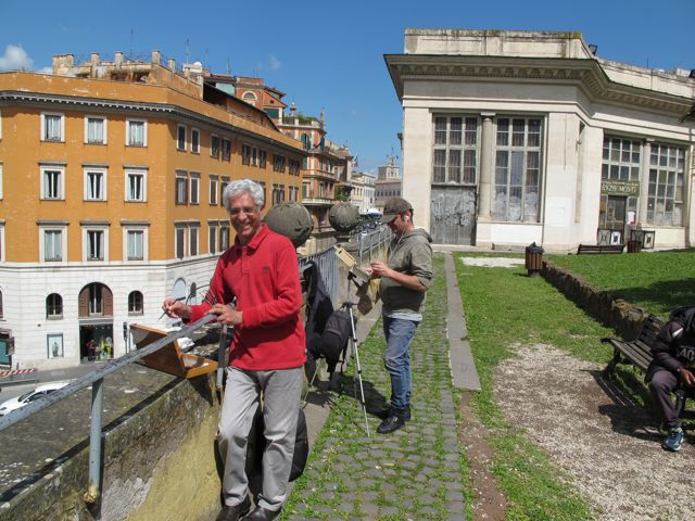 painting in rome's historic center with Giovanni Ragone and Marco Carloni.