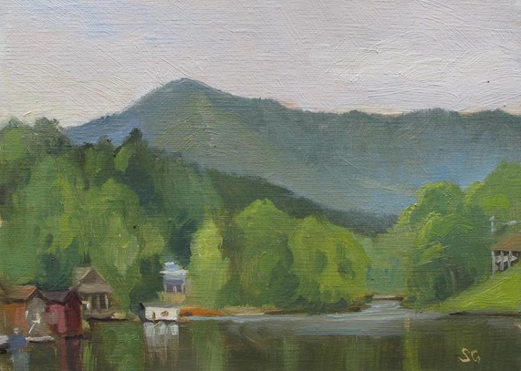 Lake Lanier, 5 x 7 in. Oil on Linen