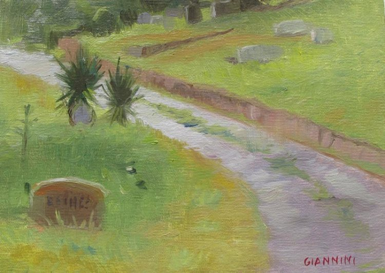 Tryon Cemetery, 5 x 7 in
