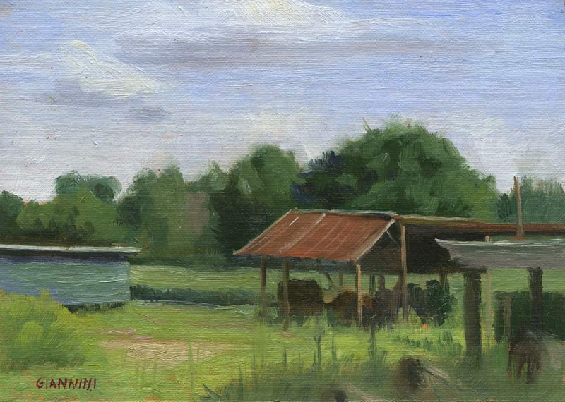 Saw Mill, South Carolina, 5 x 7 in. Oil on linen