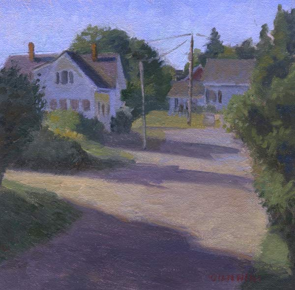 Tenants Harbor, Maine, 6 x 6 in., oil on linen on board