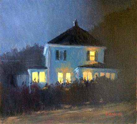 The Warmth of Home,10 x 11 in., oil (sold)
