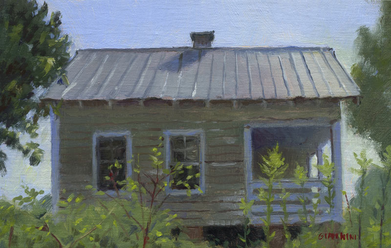 Nina Simone Childhood Home, approx. 5 x 8 in., oil on linen