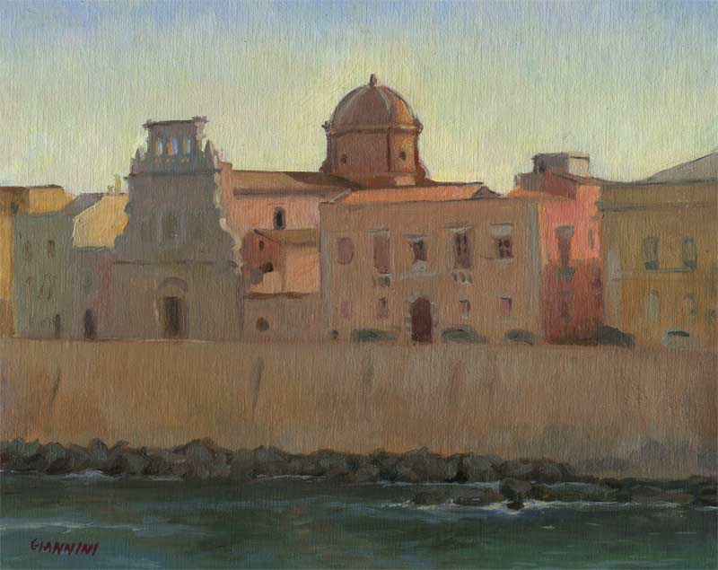 Chiesa Rossa, Ortygia, 8 x 10 in., oil on linen