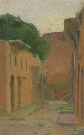 Ostia Antica, Roma, 8 x 5in., oil on linen.
