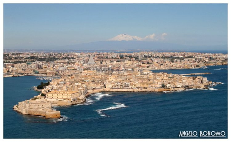Ortygia and Mt. Etna