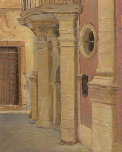 Via Labrinto, Syracuse, Sicily,10 x 8 in., oil on linen