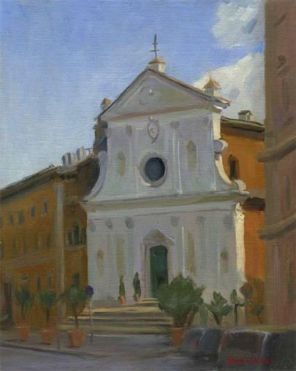 Santo Spirito, Rome, 10 x 8 in., oil on linen