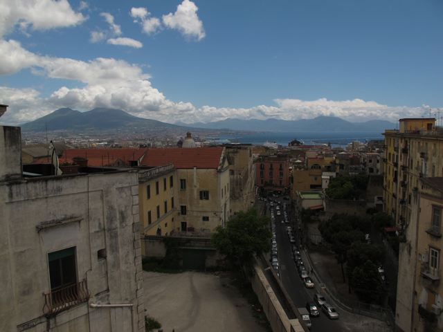 Mt. Vesuvius viewed from my apartment.