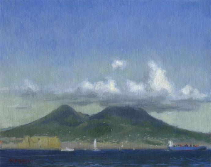 Mt. Vesevius, Naples, 8 x 10 in. oil on linen
