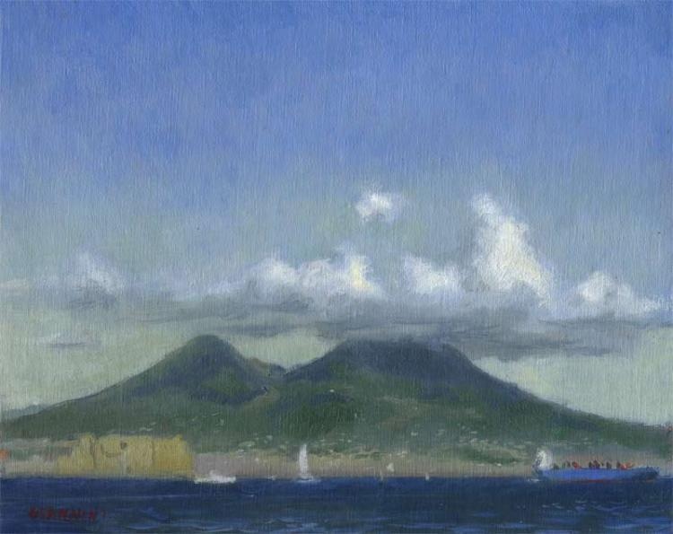 Mt. Vesevius, Naples, 8 x 10 in. oil on linen