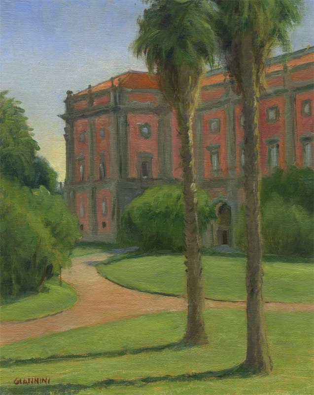 Museo Capidomonte, Naples, Italy, 8 x 10 in. oil on linen