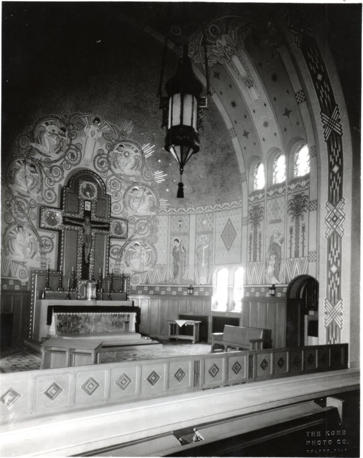 historic photo of mural