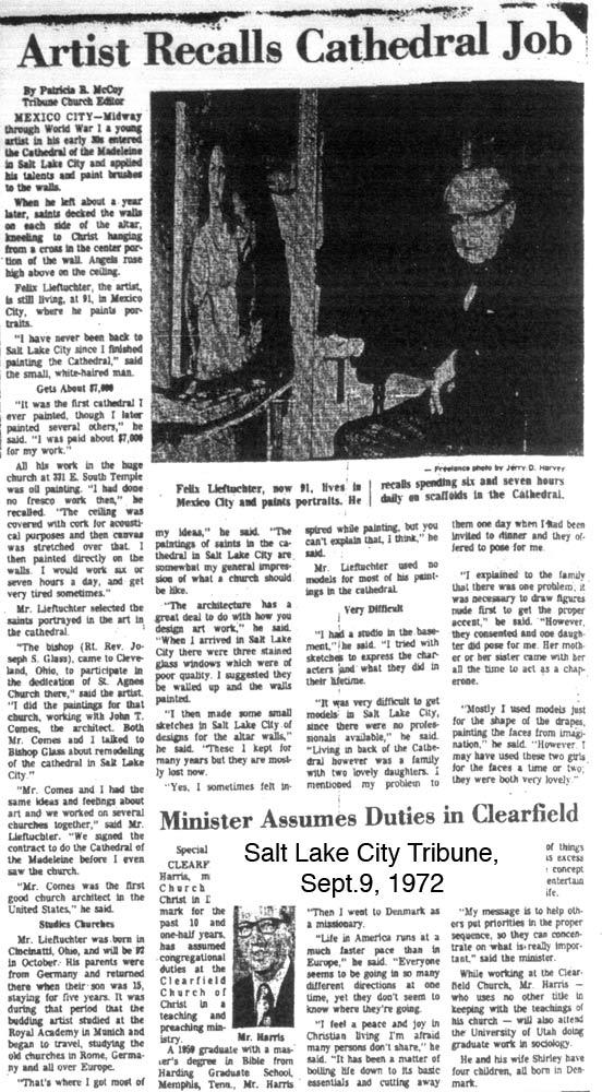 Salt Lake City tribune interview with lieftuchter, 9/72