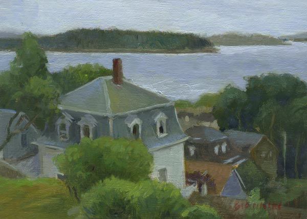 View of Stonington Harbor, 5 x 7 in, oil on linen, mounted on board