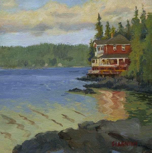 Little deer Isle, Maine, 6 x 6 in., Oil on linen on board