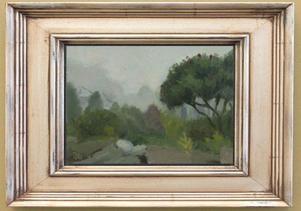 Fog in East Boothbay, Maine. 5 x 7 in. Framed View