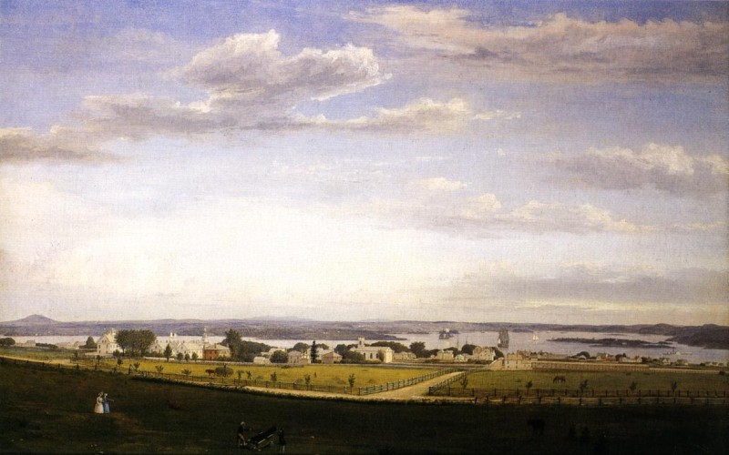 Castine from Fort George, by Fritz Henry Lane.